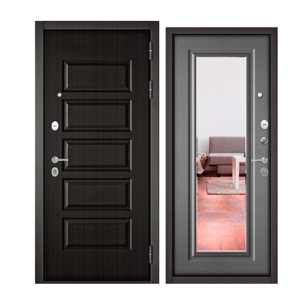 Дверь входная Бульдорс Бульдорс MASS 90 9S108 ларче шоколад / зеркало - купить в Орехово-Зуево