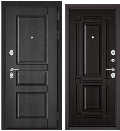 Дверь входная Бульдорс Бульдорс Standart 90 9SD-2 дуб графит  - купить в Орехово-Зуево