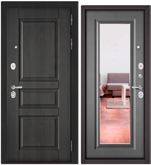 Дверь входная Бульдорс Бульдорс Standart 90 9SD-2 дуб графит Зеркало - купить в Орехово-Зуево
