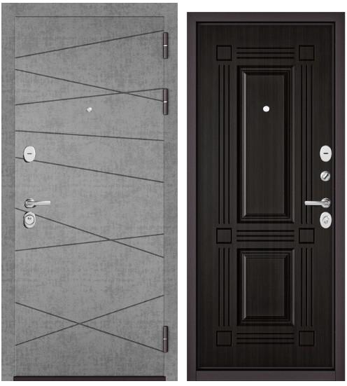 Дверь входная Бульдорс Бульдорс Standart 90. 9S-130 штукатурка серая  - купить в Орехово-Зуево
