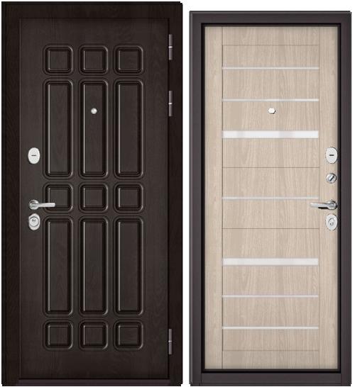Дверь входная Бульдорс Бульдорс Standart 90 9S-111 дуб шоколад Царга - купить в Орехово-Зуево