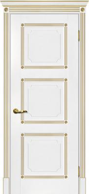 Дверь межкомнатная Мариам Флоренция-4 (патина золото) - купить в Орехово-Зуево